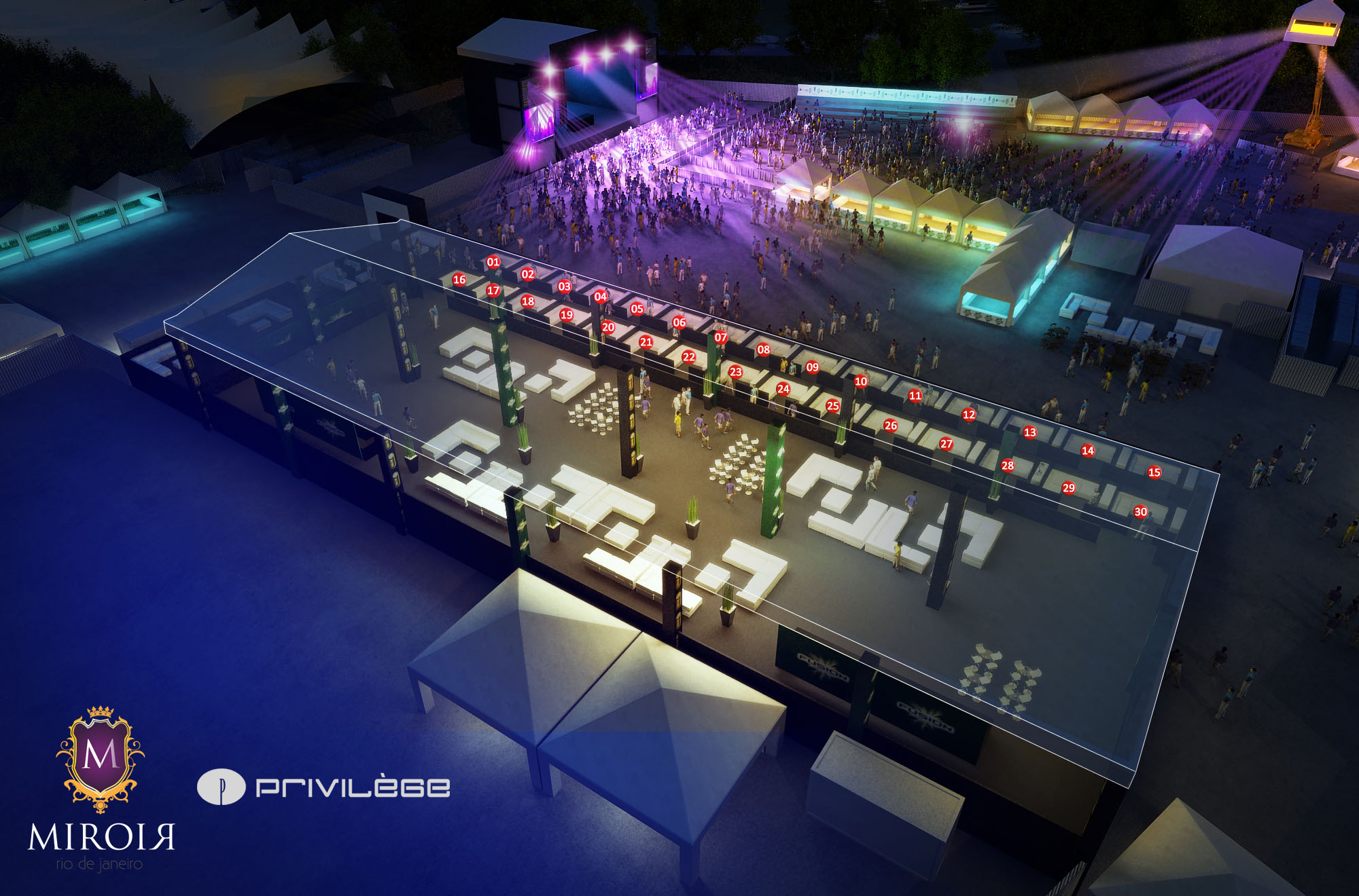 Novidades privil ge assina o camarote neon future for Miroir nightclub rio